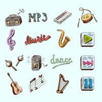 Icone della musica vettore