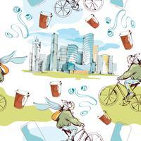 Modello senza soluzione di continuità della città moderna