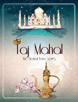 Poster retrò di Taj Mahal