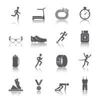 Esecuzione di icone impostate vettore