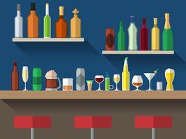 Bancone bar piatto