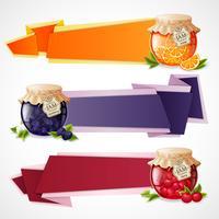 Set di banner di origami di marmellata