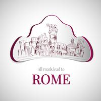 Emblema della città di Roma vettore