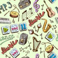 musica senza cuciture vettore