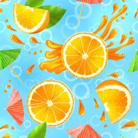 Modello senza cuciture arancione vettore