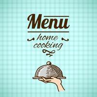Schizzo di progettazione menu ristorante vettore