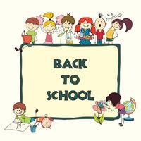 Banner di schizzo di scuola di bambini