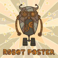 Design robot Hipster vettore