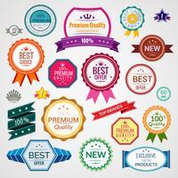Set di etichette di vendita di colore
