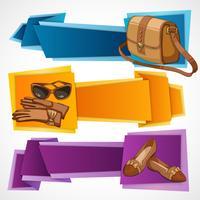 Set di banner di moda vettore