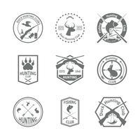 Set di etichette di caccia vettore