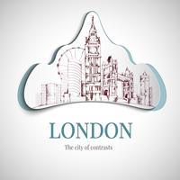 Emblema della città di Londra vettore
