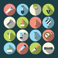 Icone degli strumenti di riparazione domestica vettore