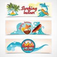 Set di banner da surf vettore
