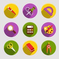 Set di icone di scuola piatta