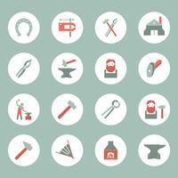 Set di icone del fabbro vettore