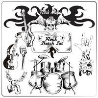 Set di abbozzo di musica rock