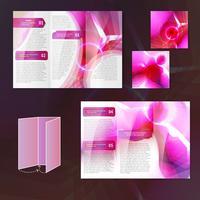 Modello di brochure rosa vettore
