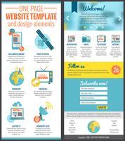 Modello di sito Web di una pagina