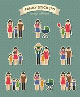 Set di icone di famiglia di colore vettore