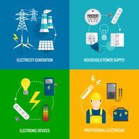 Concetto di energia elettrica vettore