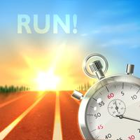 Poster sport cronometro