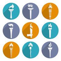 Set di icone della torcia