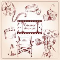 Set di schizzo del cinema