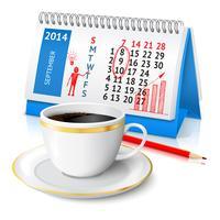 Schizzo di affari sul calendario