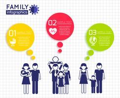 Progettazione infografica con la famiglia vettore