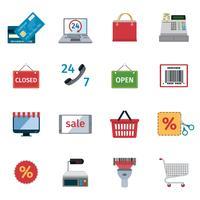 Set di icone di e-commerce