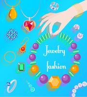 Manifesto della moda dei gioielli vettore
