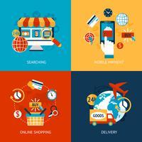 Set piatto per lo shopping online