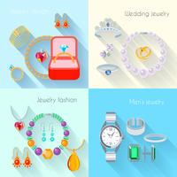 Icona di gioielli piatta
