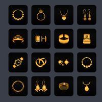 Icona di gioielli nero