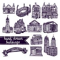 Set di costruzione di città schizzo