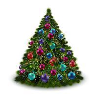 Albero di Natale isolato vettore