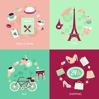 Set città di Parigi vettore