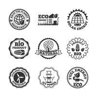 Set di etichette di energia ecologica vettore
