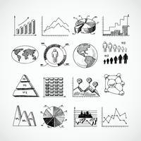 Set di schemi di schizzo