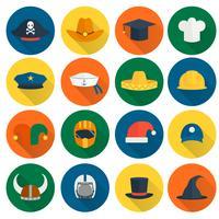 Cappello icone piatte