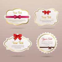 Set di etichette regalo vettore