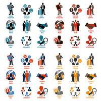 Icone di affari e gestione