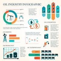 Infografica produzione di olio vettore