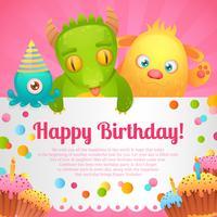 Carta di compleanno mostri