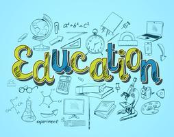 Concetto di icona di educazione