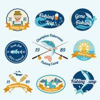 Set di etichette di pesca