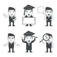 Set di caratteri di educazione vettore
