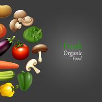 Disegno di carta con alimenti biologici freschi vettore
