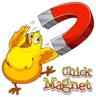 Magnete di pulcino vettore
